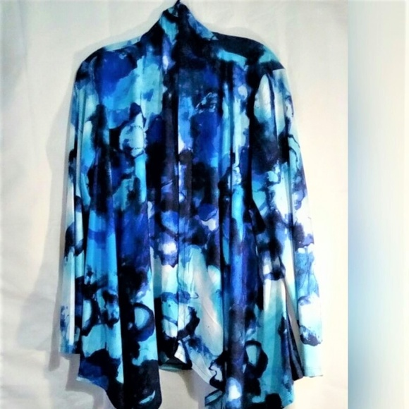 Essentials by Milano Tops - Essentials by Milano Shawl Open Sz L Blues